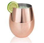 Artland 10331 Copper Stemless Wine Glass - 17 Oz