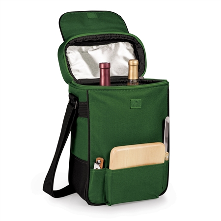 Picnic Time Duet Wine and Cheese Tote - Hunter Green