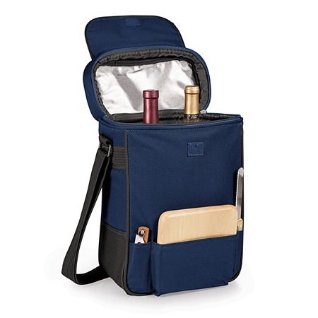 Picnic Time Duet Wine and Cheese Tote - Navy