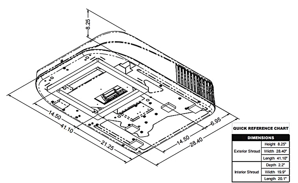 Coleman Mach 8 47223A879 RV Rooftop Air Conditioner