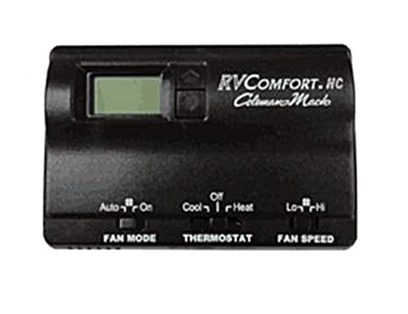 Coleman Mach Air Conditioner Wall Thermostat, Single Stage Heat/Cool Digital, Black