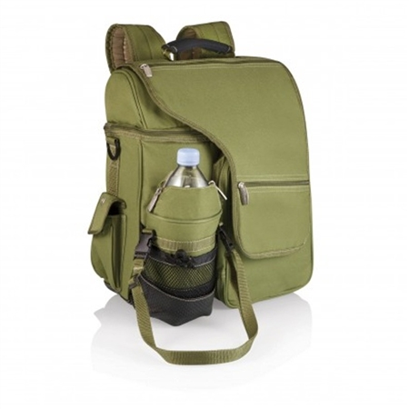 Picnic Time Turismo Cooler Backpack - Olive Green and Tan