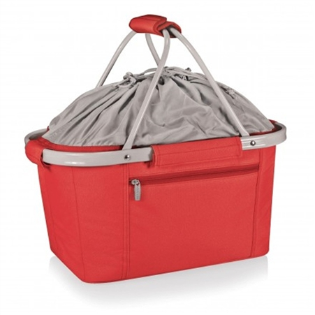 Picnic Time Metro Basket Collapsible Tote - Red