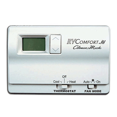 Coleman Mach Wall Thermostat, Single Stage Heat/Cool Digital, White, With Display