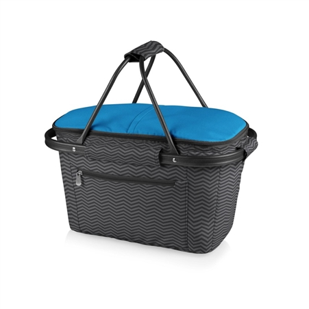 Picnic Time Market Basket  Collapsible Tote - Waves Collection