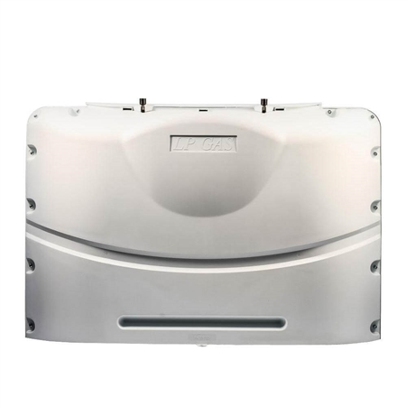 Camco 40523 Heavy Duty RV Propane Tank Cover - Polar White - 20 Lbs