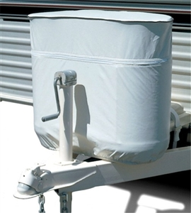 ADCO 2114 Polar White LP Tank Cover, 40 lb. Double