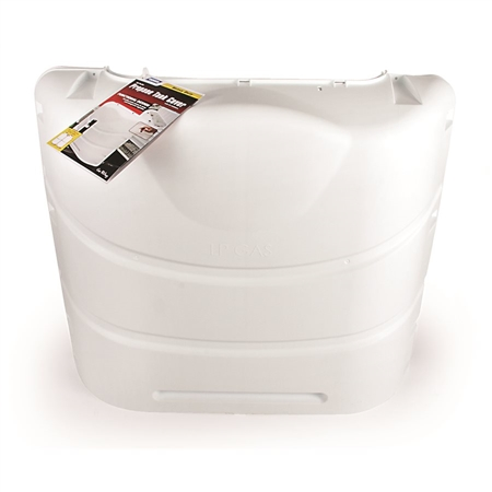 Camco 40542 Heavy Duty RV Propane Tank Cover - Polar White - 30 lbs