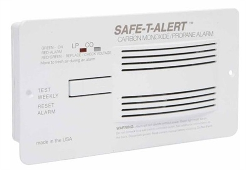 Safe-T-Alert 70-742-P-WT 70 Series Dual CO/LP RV Gas Alarm - White