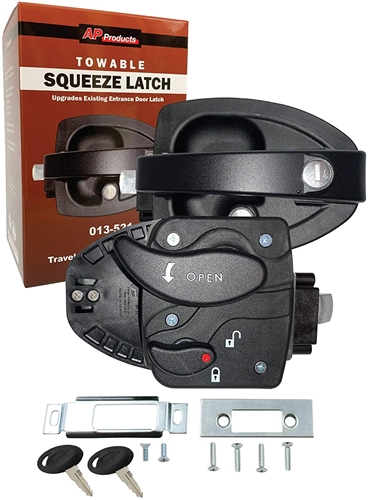 Bauer 013-521 Squeeze Latch Entry Door Lock