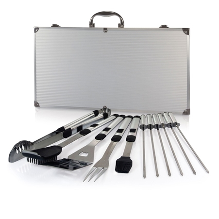 Picnic Time Mirage Pro BBQ Set - Black with Silver and Black