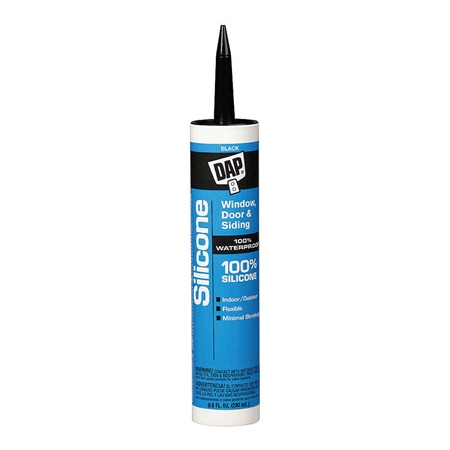 DAP 08642 100% Silicone Window & Door Sealant - Black - 10.1 Oz