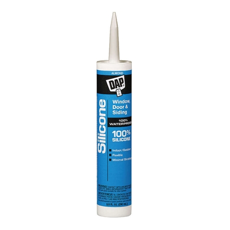 DAP 08649 100% Silicone Window & Door Sealant - Almond - 10.1 Oz