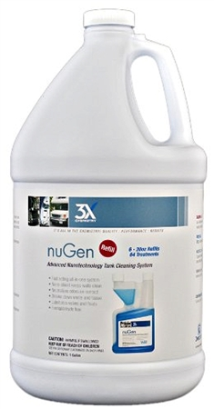 3X Chemistry 140 nuGen Advanced Nanotechnology Toilet Chemical & Cleaner - 1 Gallon