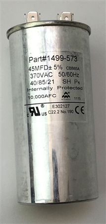 Coleman Mach 1499-5731 Air Conditioner Run Capacitor - 45 MFD
