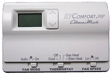 Coleman Mach 6536A3351 Digital 2-Stage Heat Pump/Gas Furnace RV Wall Thermostat - White
