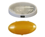 Gustafson AM4032 Oval RV Porch Light With Clear And Amber Lenses - With Switch