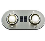 Gustafson Double Eyeball Directional RV Reading Light - Satin Nickel