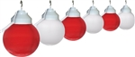 Polymer Products 1681-01523-PRE Red And White Globe String Lights - Set of 6