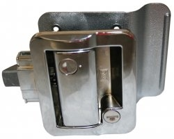 Fastec 43610-00-SP Travel Trailer Lock With Deadbolt - Chrome