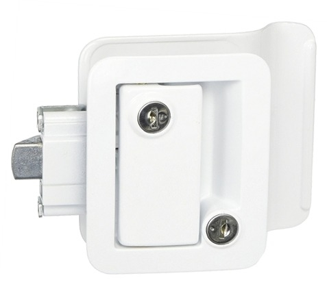 Fastec 43610-09-SP Travel Trailer Lock With Deadbolt - White