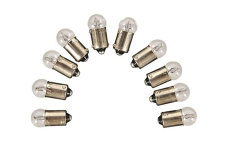 Camco 54710 Replacement Auto Instrument 57 Light Bulb - 10 Pack