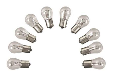 Camco 54780 Replacement Auto/Marine/RV 1076 Signal Bulb - 10 Pack