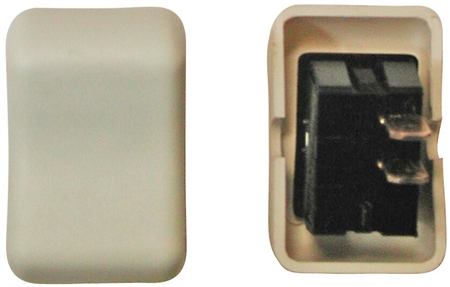 Diamond Group 2B-58 Contour On/Off Rocker Switch SPST - Ivory