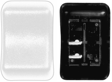 Diamond Group 2G-56 Contour Momentary On/Off Rocker Switch SPST - White