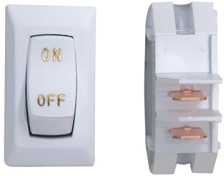 Diamond Group DG110UGPB 12V Labeled On/Off Switch White/Gold - 3 Pack