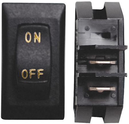Diamond Group B1-18U-315S 12V Labeled On/Off Switch - Black/Gold - 3 Pack