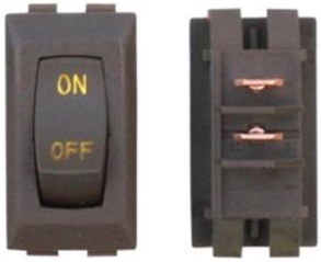 Diamond Group B1-52U-315G 12V Labeled On/Off Switch - Brown/Gold - 3 Pack