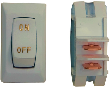 Diamond Group B1-80U-315G 12V Labeled On/Off Switch - Ivory/Gold - 3 Pack