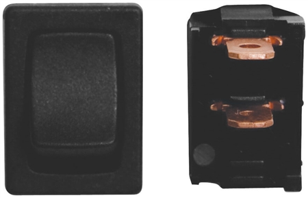 Diamond Group B2-18 12V Mini On/Off SPST Switch - Black - 3 Pack
