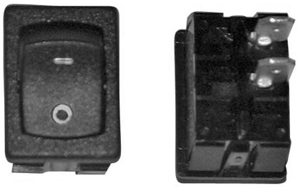 Valterra DG218SPB Mini 12V I/O SPST Switch - Black - 3 Pack