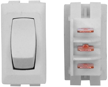 Valterra DG41UPB 12V 2-Way On/On Switch - White - 3 Pack