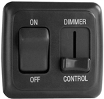 Diamond Group D3215 Dimmer On/Off Rocker Switch with Bezel - Black