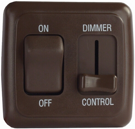 Diamond Group D3218 Dimmer On/Off Rocker Switch with Bezel - Brown