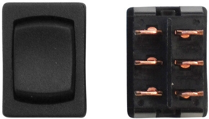 Diamond Group P2-61 12V Mini On/Off/On DPDT Switch - Black - 3 Pack