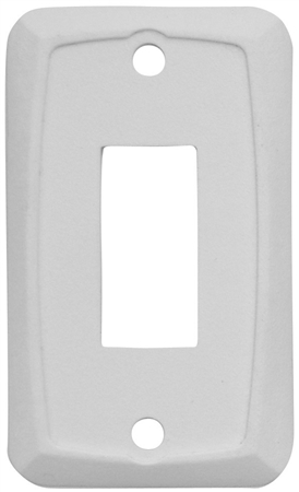 Diamond Group P7101 Single Switch Wall Plate - White - 3 Pack