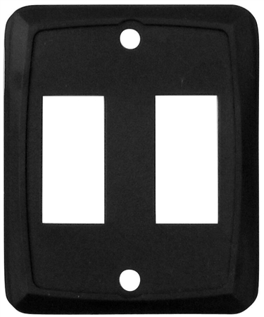 Diamond Group P7215 Double Switch Wall Plate - Black - 3 Pack