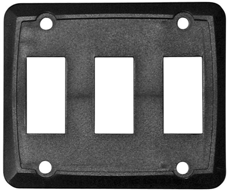 Diamond Group P7315C Triple Switch Wall Plate - Black