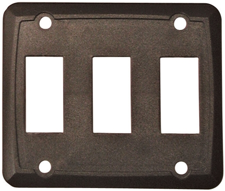 Diamond Group P7318C Triple Switch Wall Plate - Brown