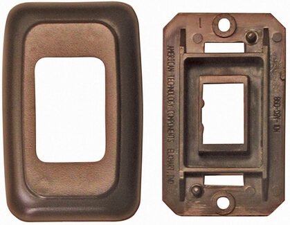 Diamond Group PB3118 Single Switch Plate Cover - Brown