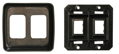 Diamond Group PB3215 Double Switch Plate Cover - Black