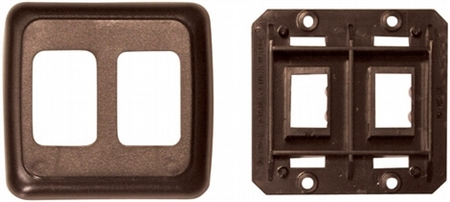 Diamond Group PB3218 Double Switch Plate Cover - Brown