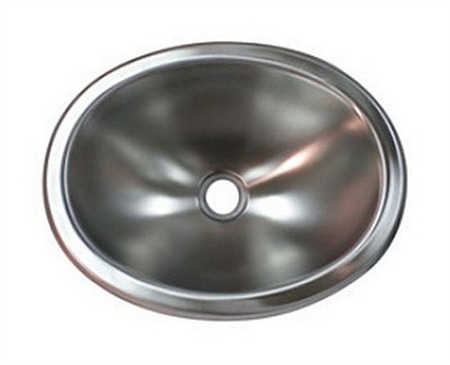"LaSalle Bristol 13M1186 Oval Stainless Steel Sink Bowl - 10"" x 13"""