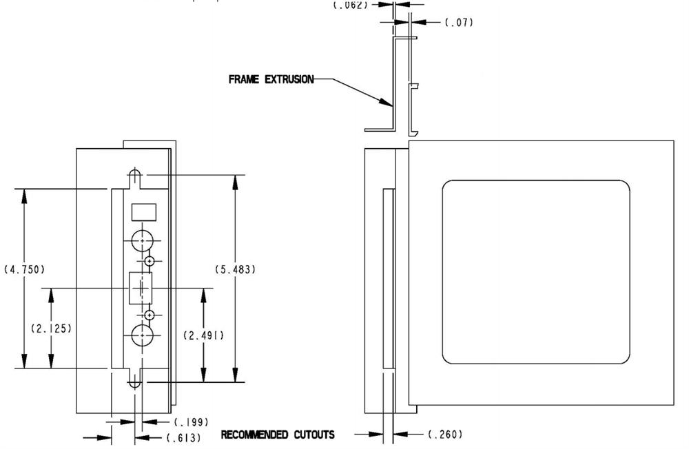 RV Designer T507 TriMark RV Entrance Door Lock With Deadbolt