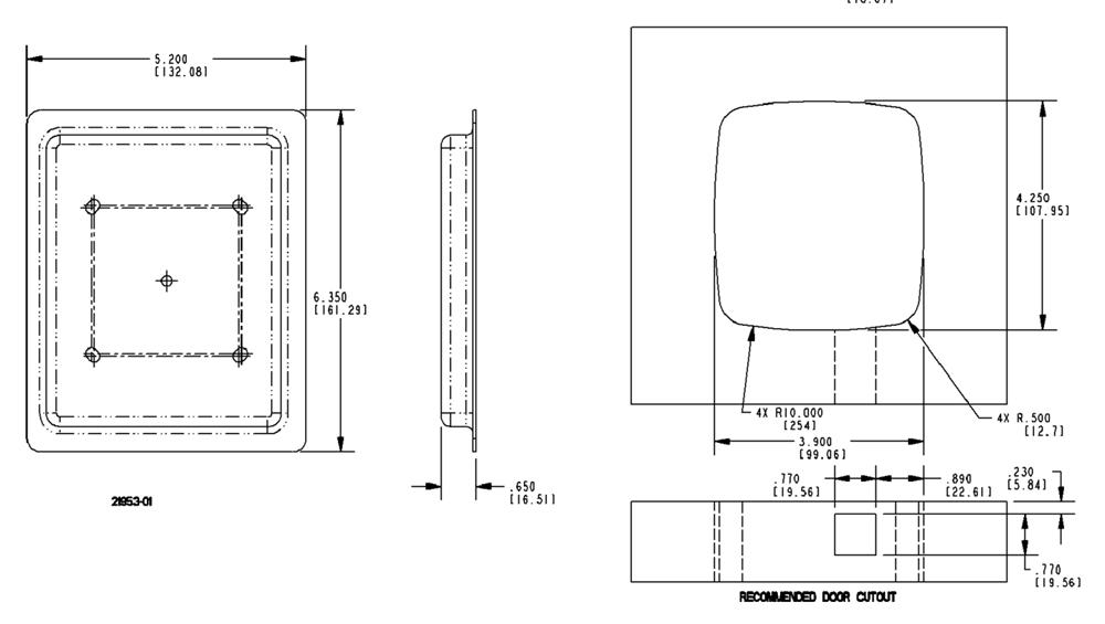 RV Designer T511 TriMark EZ Access Baggage Door Lock - Plastic Plunger