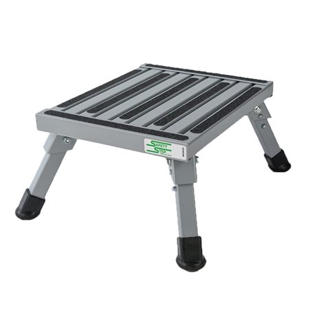 Safety Step S-07C-V Small Folding Step Stool - Silver